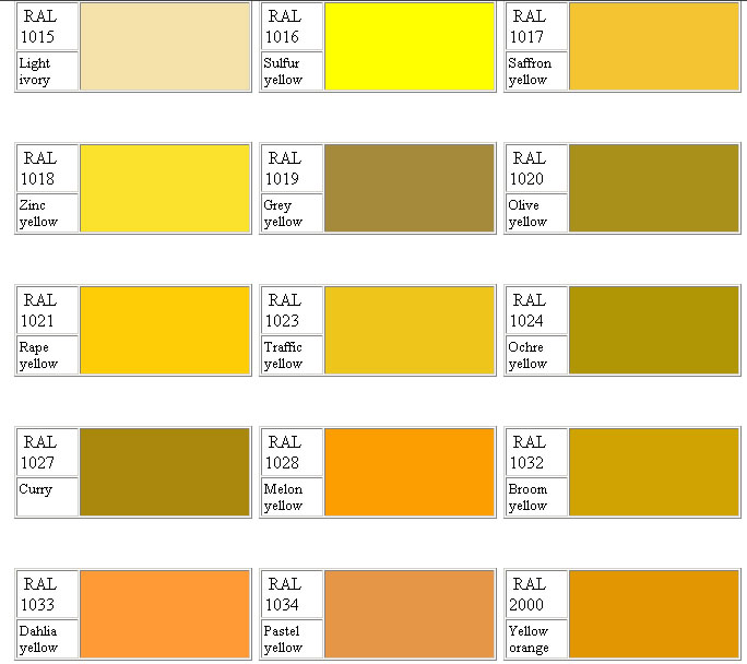 Ral Color Chart Cartella Colore Ral K Ral K Colors Chart